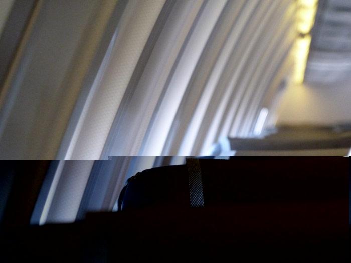 Dentro del avión