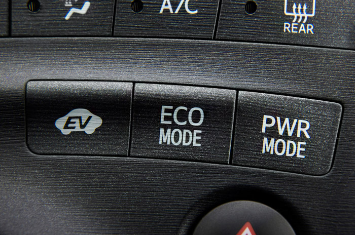Toyota Prius. Consola central