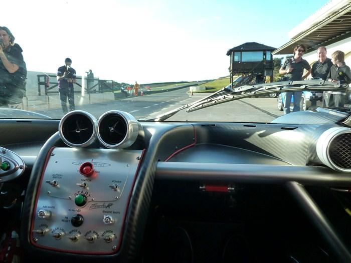 Pagani Zonda R. Salida a la pista. Circuito Ascari. Ronda, Málaga