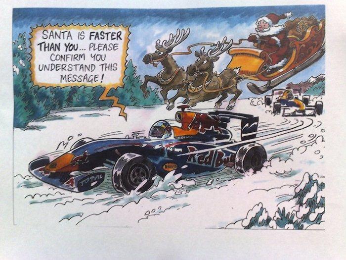 Felicitación de Navidad. Red Bull Racing