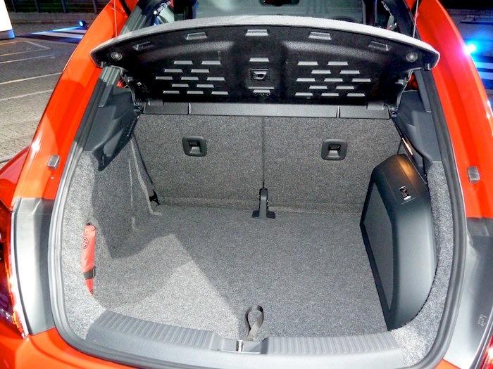 Volkswagen Beetle. Maletero