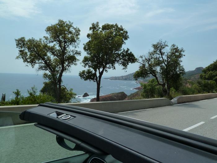 Costa azul desde descapotable Niza - Saint Tropez