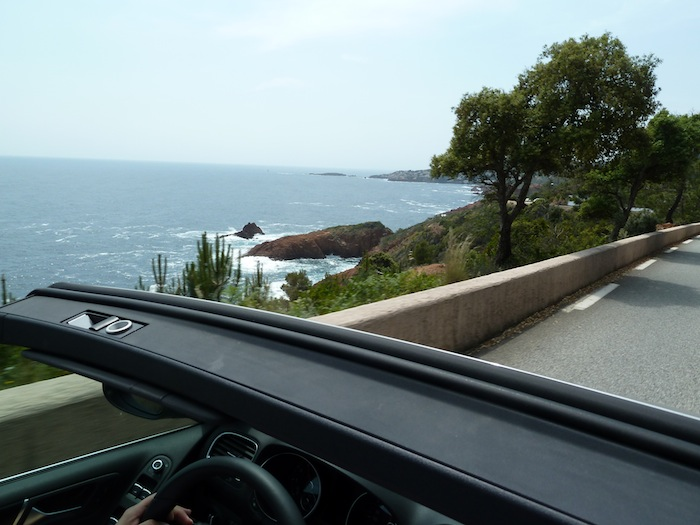 Desde Niza a Saint Tropez. Carretera de la costa.
