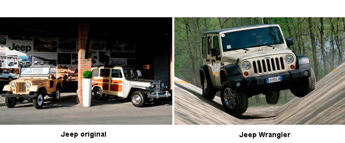 Jeep original y Jeep Wrangler.