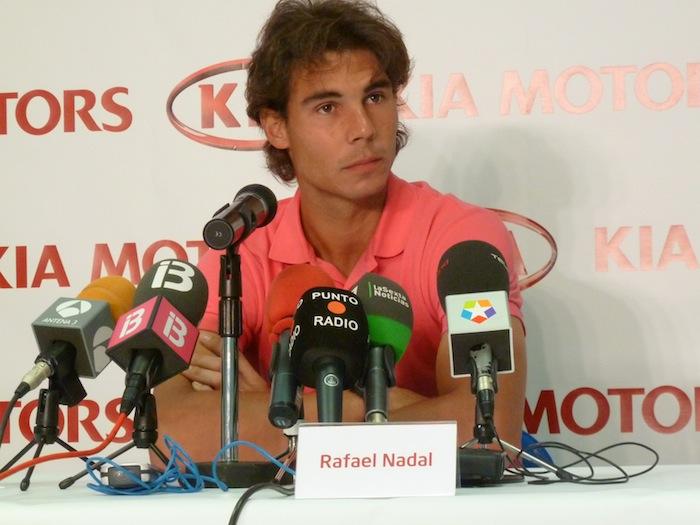 Rafael Nadal. Rueda de Prensa. KIA.