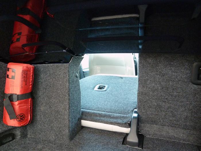 Volkswagen Golf Cabriolet. Asientos abatidos.