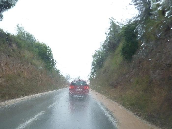 Lluvia en el parabrisas