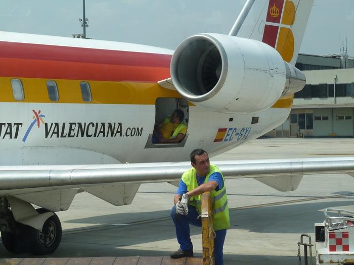 Aeropuerto de Turín. Avión de Mare Nostrum.