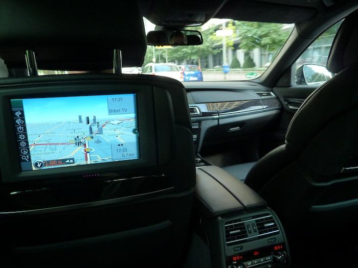 BMW750i. Asiento posterior