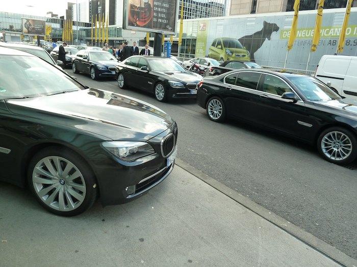 BMW Serie 7. Aeropuerto de Francfort