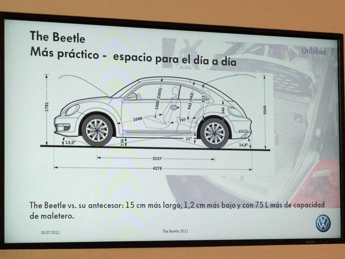 Volkswagen Beetle. Medidas.