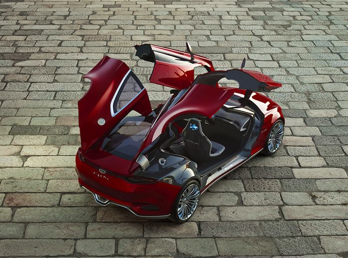 Ford EVOS Concept Alas de gaviota