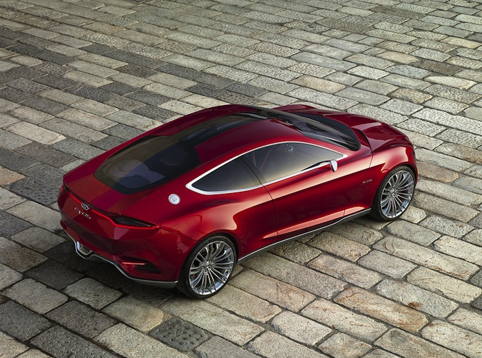 Ford Evos Concept. Vista cenital posterior