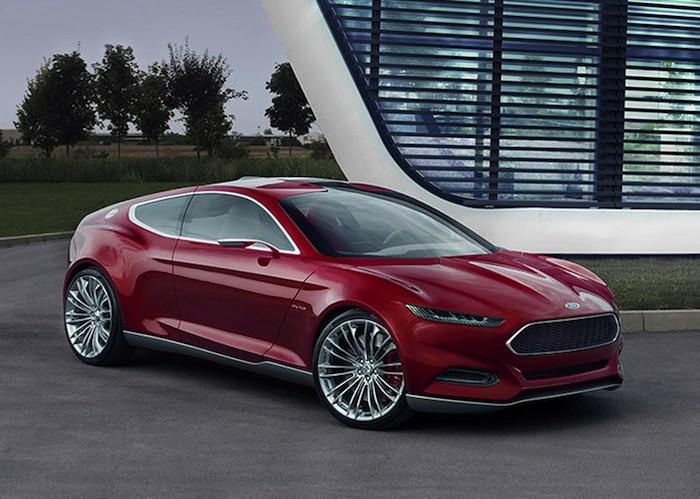 Ford EVOS Concept. Vista tres cuartos delantero