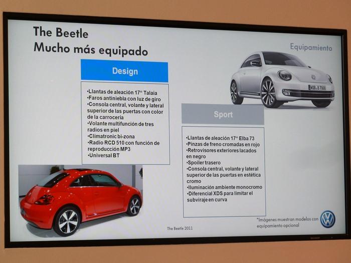 Diferencias entre versiones. Volkswagen Beetle. 2012