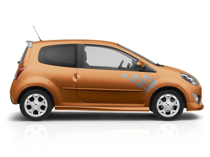 Prueba de consumo (68): Renault Twingo Yahoo 1.2 16v. Lateral.