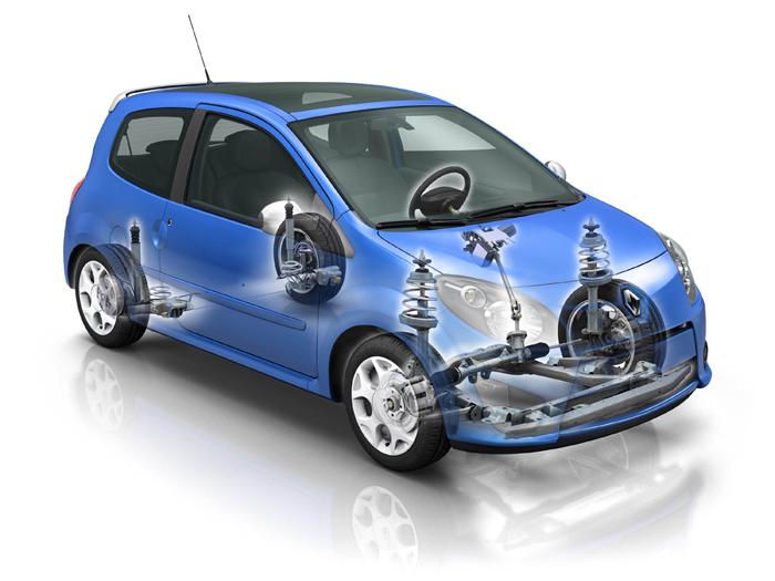 Prueba de consumo (68): Renault Twingo Yahoo 1.2 16v. Radiografía delantera.