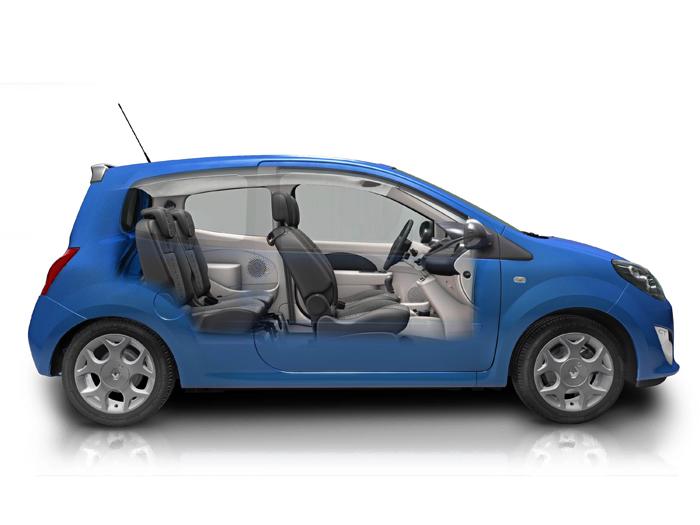 Prueba de consumo (68): Renault Twingo Yahoo 1.2 16v. Radiografía lateral.