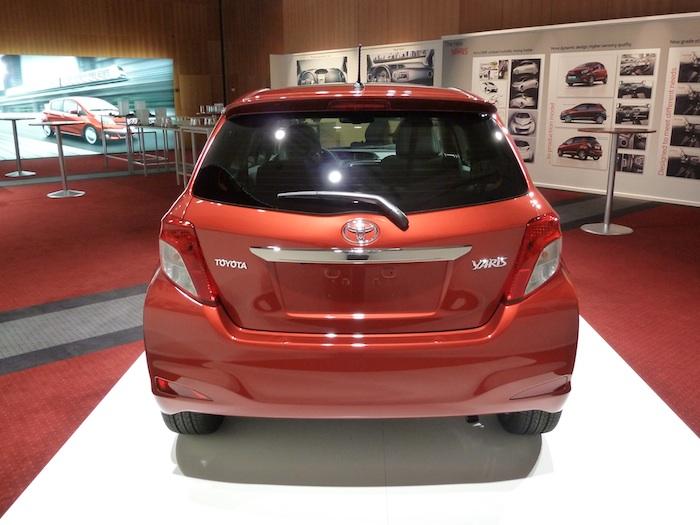 Toyota Yaris 3 puertas 3p. Vista posterior.