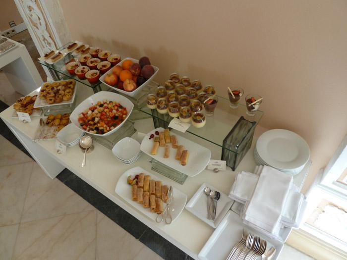 Dulces portugueses. Buffet