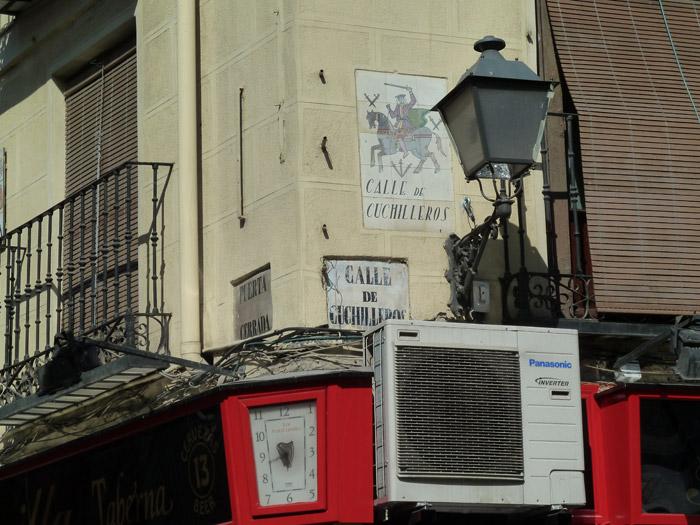 Adoquines. Madrid. Calle de Cuchilleros