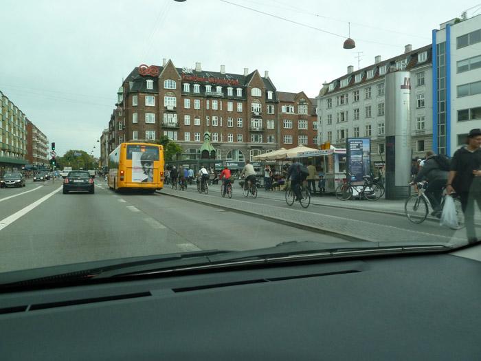 Copenhague. Dinamarca. Tráfico