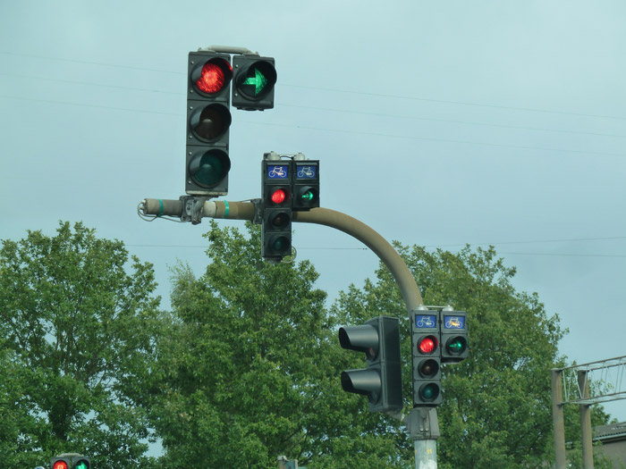 Copenhague. Señales de tráfico. Semáforo
