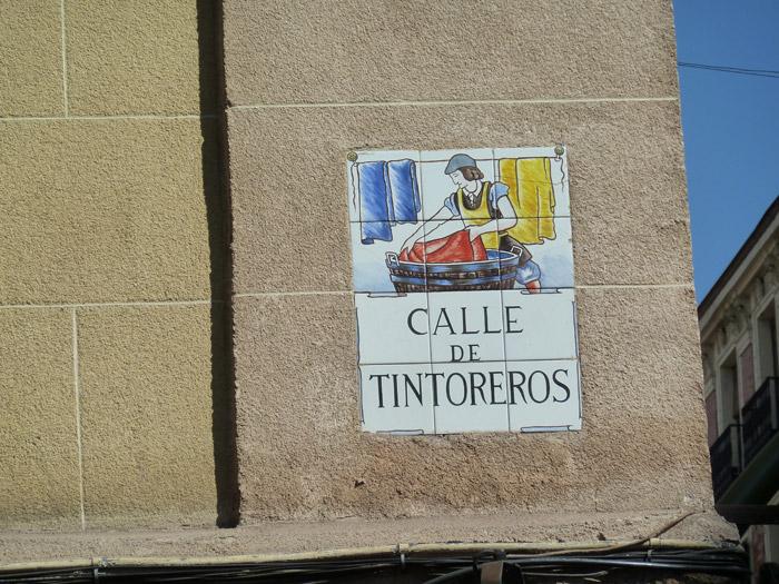 Adoquines. Madrid. Calle de Tintoreros