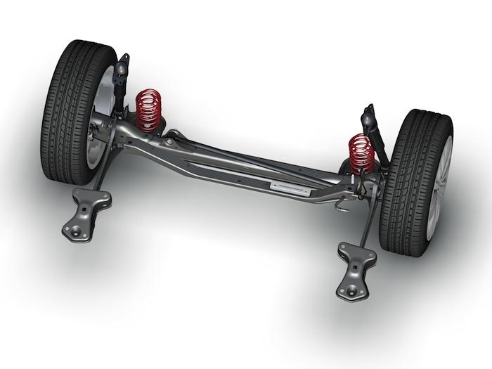 Volkswagen Beetle. Suspensión posterior. Eje rígido