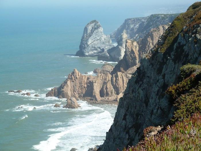 Cabo da roca. Vista hacia el Norte.
