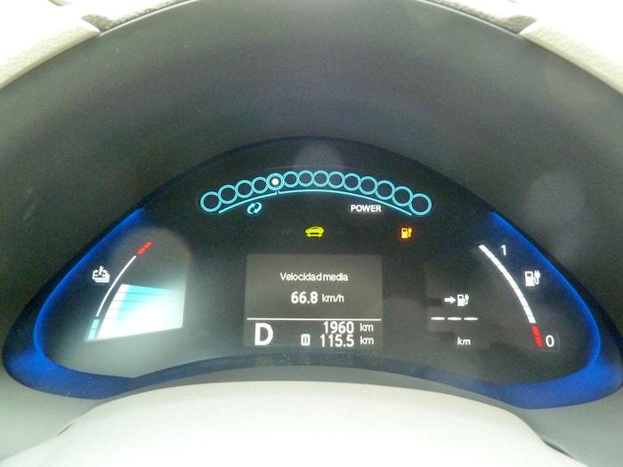 Nissan Leaf. Autonomía, 115 kilometros