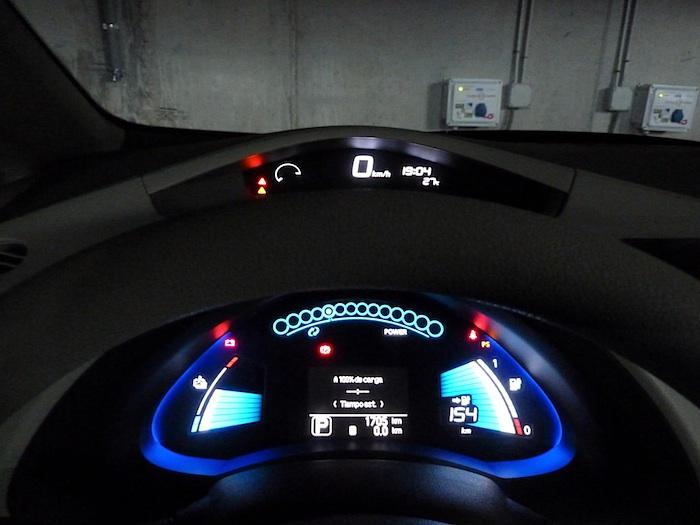 Nissan Leaf. Bateria llena.
