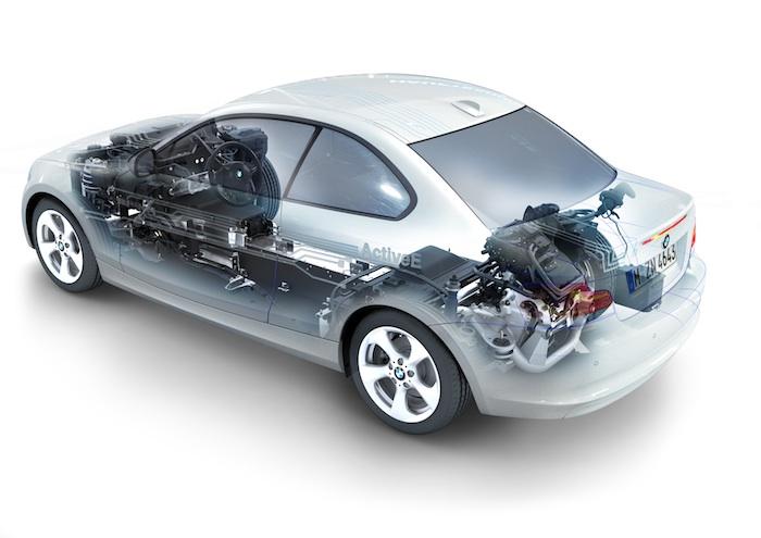 BMW Active E. Radiogafia posterior.