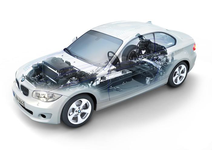 BMW Active E. Radiografia anterior