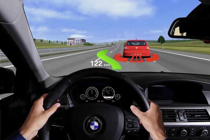collision warning realidad aumentada hud