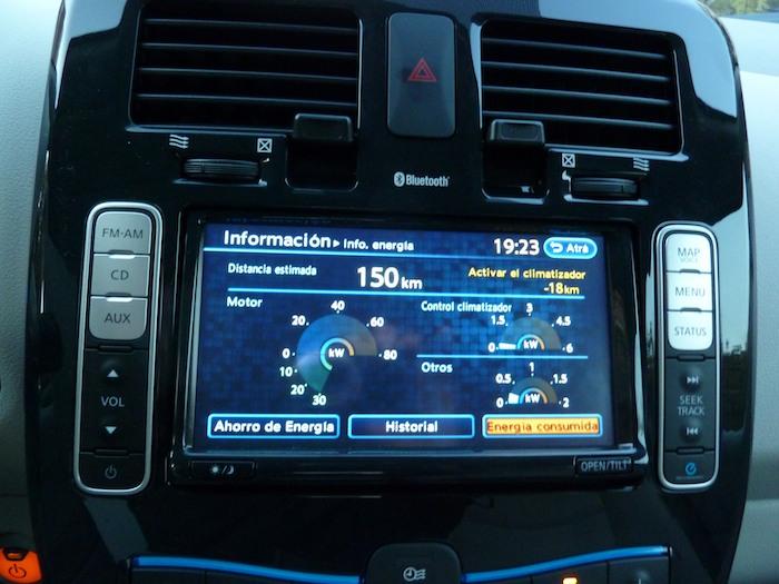 Nissan Leaf. En modo ECO. Sin climatizador