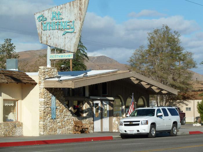 Lone Pine. California. Restaurante Whitney