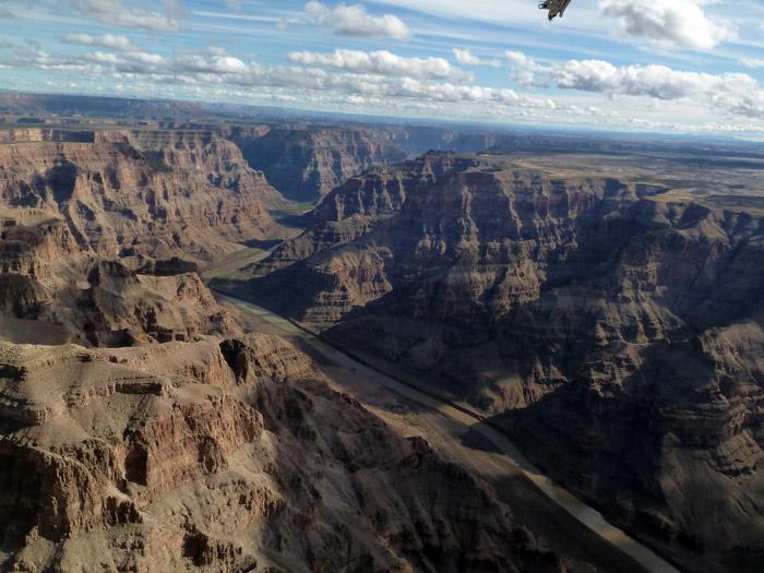 Gran Cañón del Colorado. Nevada. Ruta en avioneta