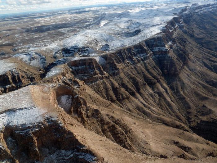 Gran Cañón del Colorado. Paisaje nevado