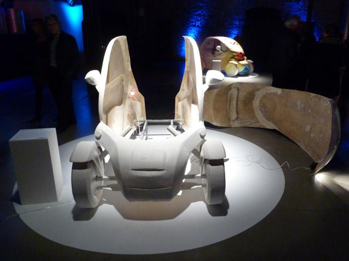 Renault Twizy. Exposición. Matadero de Madrid. Fibra de vidrio