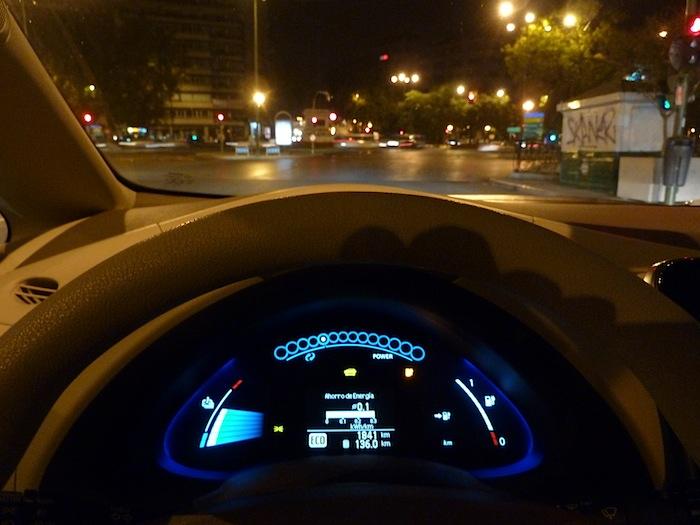 Nissan Leaf. En modo ECO. Recorrido 136 km.