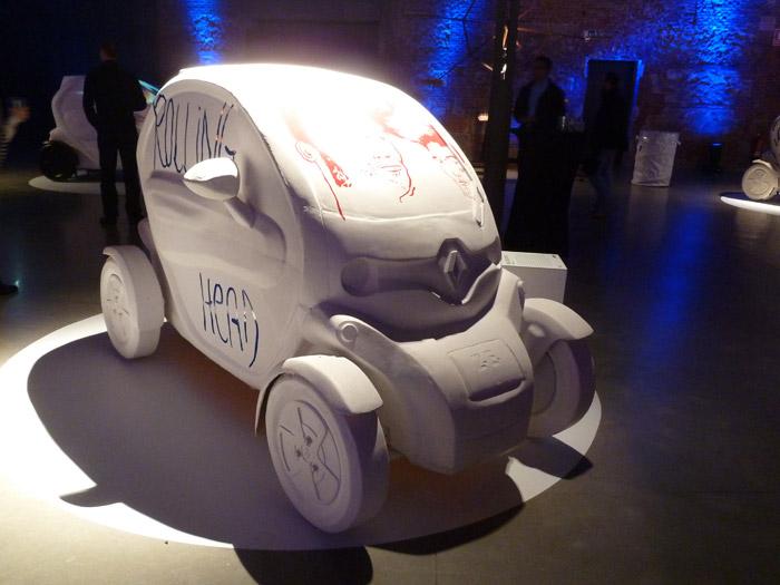 Renault Twizy. Exposición. Matadero de Madrid. Raul Díaz. Rolling Head