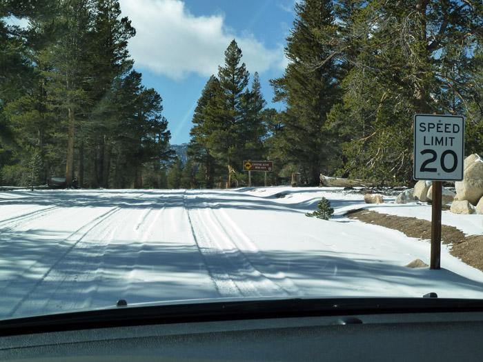 Lone Pine. California. Limite de velocidad 20 km