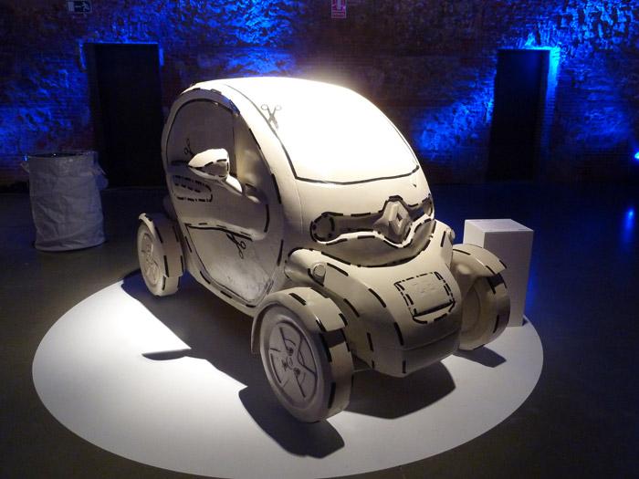 Renault Twizy. Exposición. Matadero de Madrid. Daniel Silvo. Portapack