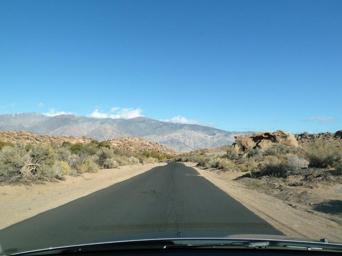 Lone Pine. California. Carretera