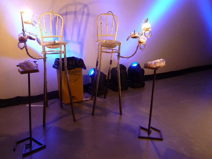 Renault Twizy. Exposición. Matadero de Madrid. Stand de comida