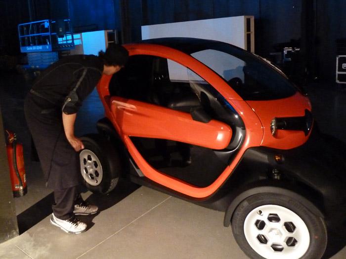 Renault Twizy. Eléctrico. Matadero de Madrid