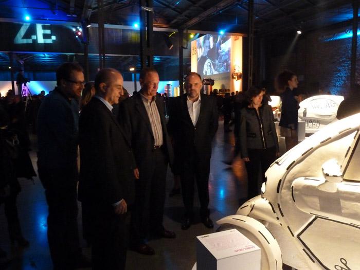 Renault Twizy. Presidente Renault España Jean Pierre Laurent y Ministro de Industria Miguel Sebastián Gascón