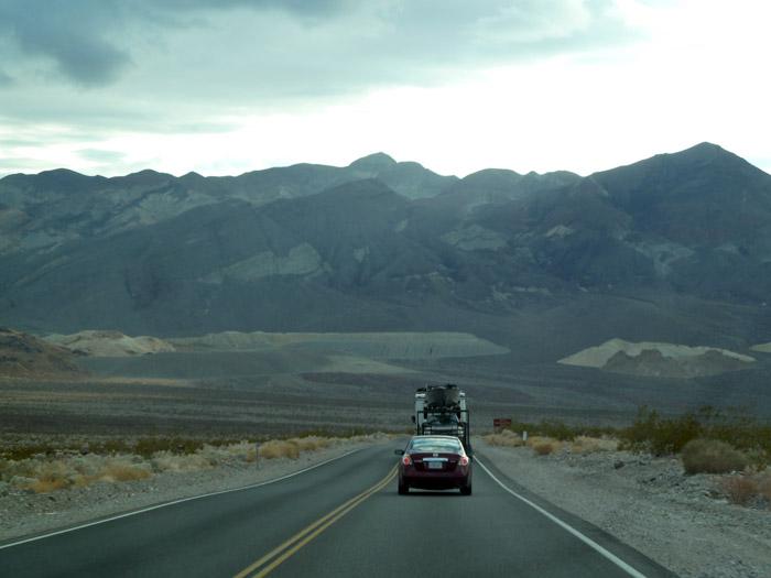 El Valle de la Muerte. California. Autocaravana