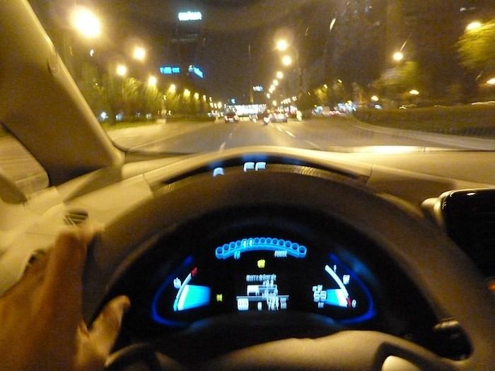 Nissan Leaf. En modo ECO. Recorrido 70 km. Ciudad